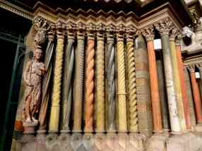 Multi-colored columns of the cathedral