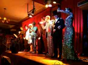 Performers at the tango show and dinner
