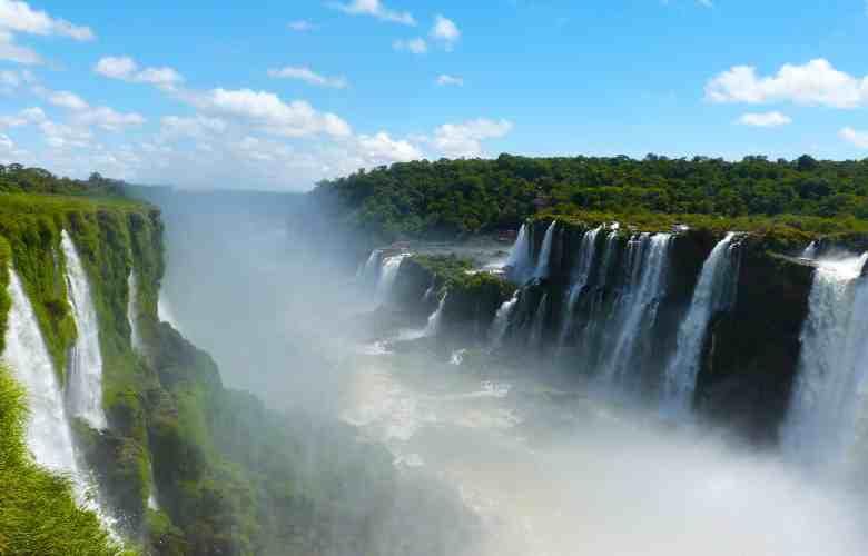 The Two Sides of Iguazu Falls
