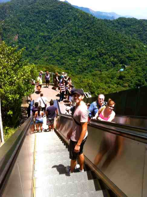 Outdoor escalators at Cristo Redentor