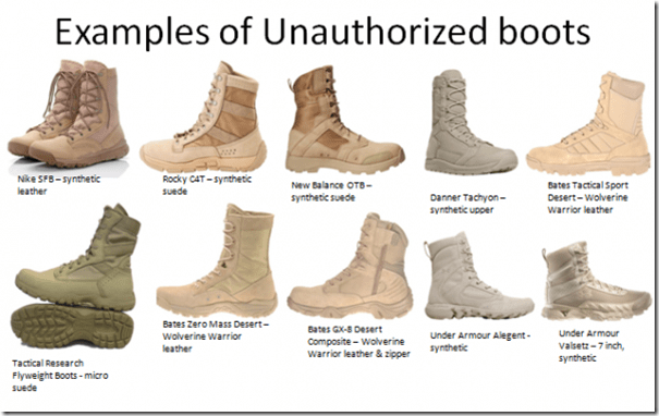 Army Clarifies What Acceptable COTS Boots Are FOG HORN