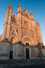 The Duomo at dusk, Orvieto