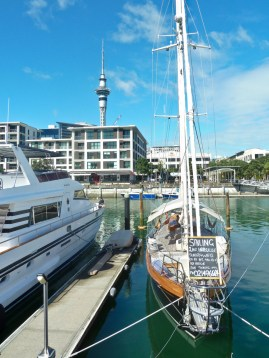 Auckland Viaduct and the sky tower, March