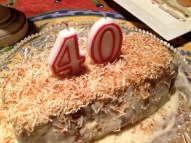 Hubby turns 40, August