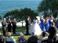 Wedding by the ocean, Caloundra August