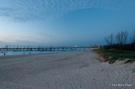 Looking south along the coast at dawn