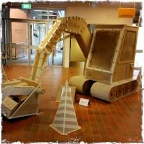 Demoliton cardboard sculptures