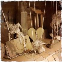Worries of Aus, cardboard sculpture