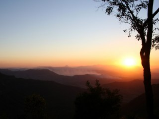 Sunset from the bluff, O'Reilly's Rainforest Retreat