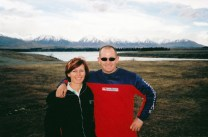 My brother and I on the road from Christchurch to Wanaka