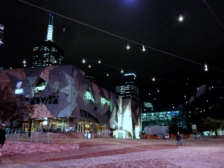 Federation Square at night