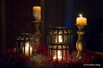 Christmas candles and lanterns
