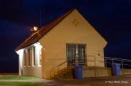 Club house at dawn