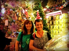 Me and my cousin at the Christmas shop