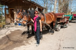 Me with our 'ride' up to Neuschwanstein Castle