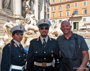 Hubby meets the Italian Police