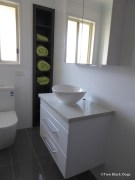 Grey and white ensuite