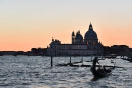 Sun setting on Santa Maria della Salute