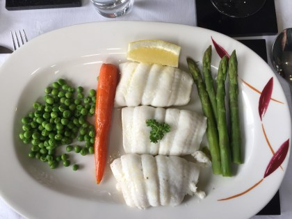 Lemon Sole with vegetables
