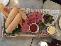 Charcuterie platter, Cafe Rouge