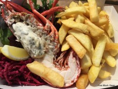 Lobster and chips at the East Pier Smokehouse, St Monans