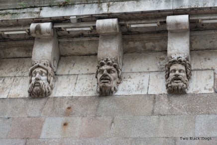 Mascarons, the stone masks on the Pont Neuf