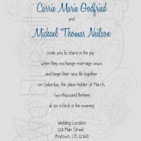 Wedding Invitation: Floral Undertones