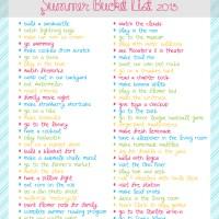 Summer Bucket List 2013