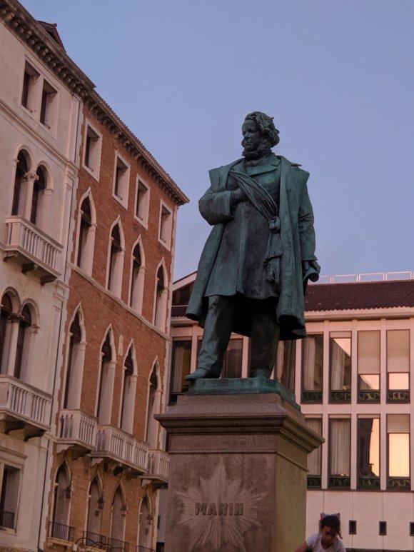 Statue in a square in Venice.