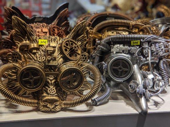 Steampunk Venetian masks