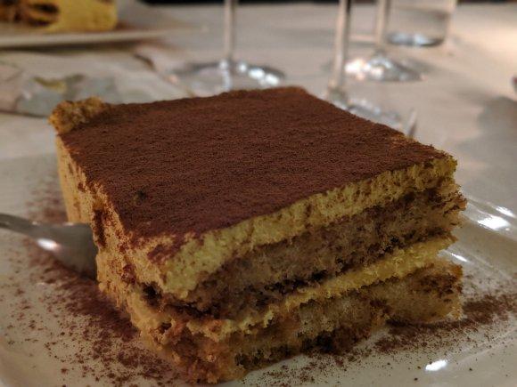 Tiramisu in Venetian restaurant