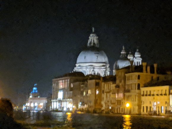 View of St Mark's Square from the Grand Canal at night