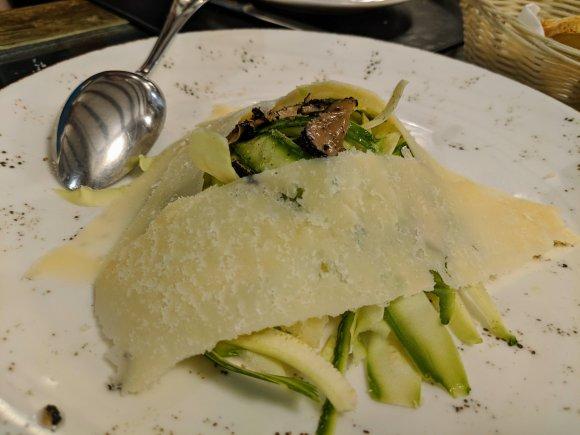 Zucchini salad at La Natalino ristorante, Florence, Italy