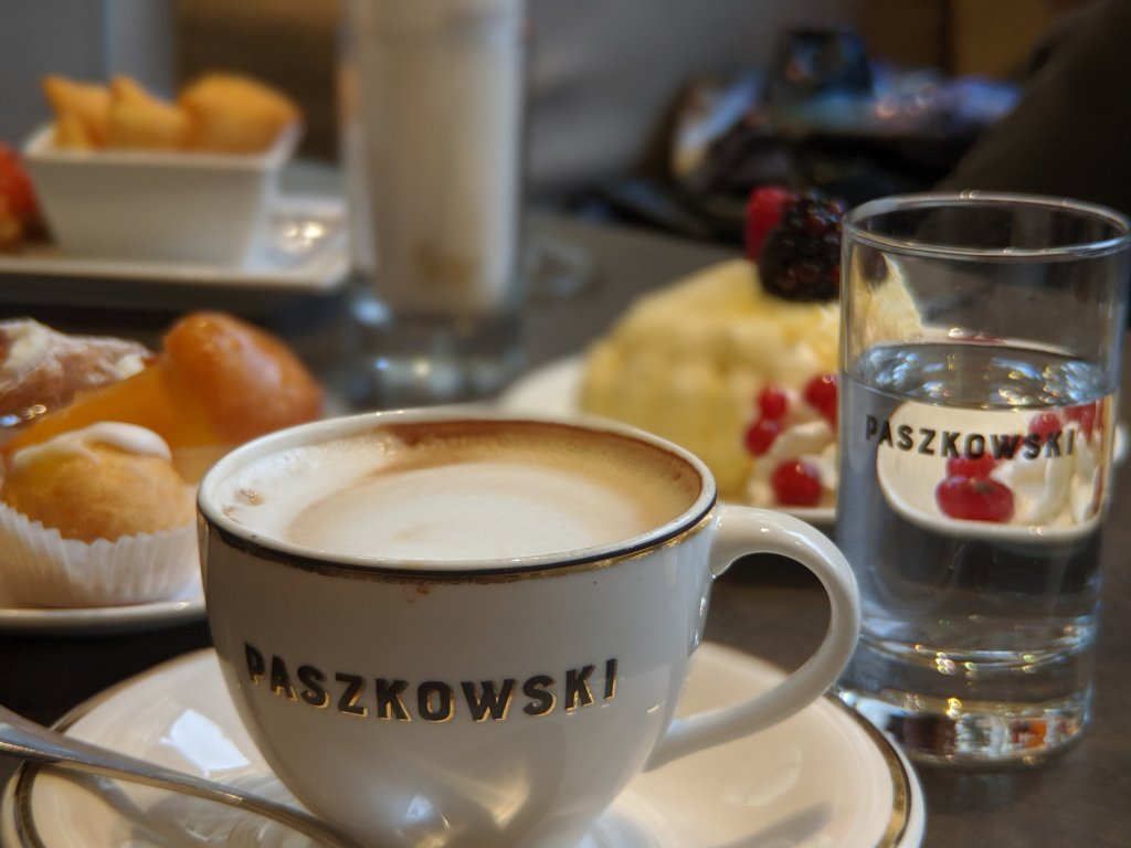 Cappuccino at Paszkowski Cafe in Florence, Italy
