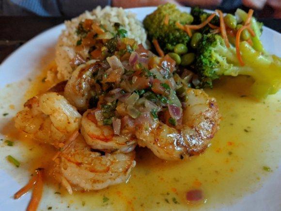 Seared Island Shrimp at Lonnie's Fusion Cuisine, Lake Mary, Florida