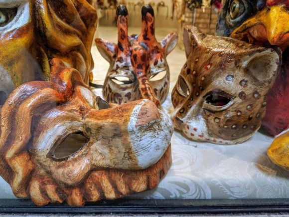 Animal head masks, Venice, Italy