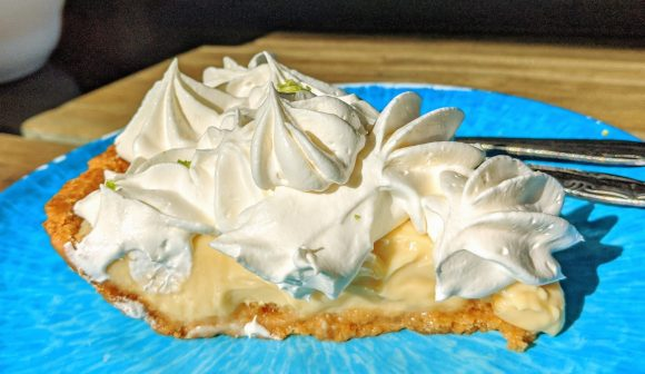 Key lime pie at the Turtle Shack Cafe - Flagler Beach