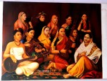 Canvas painting of women.