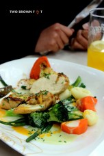 Chicken and veggies - an excellent choice!
