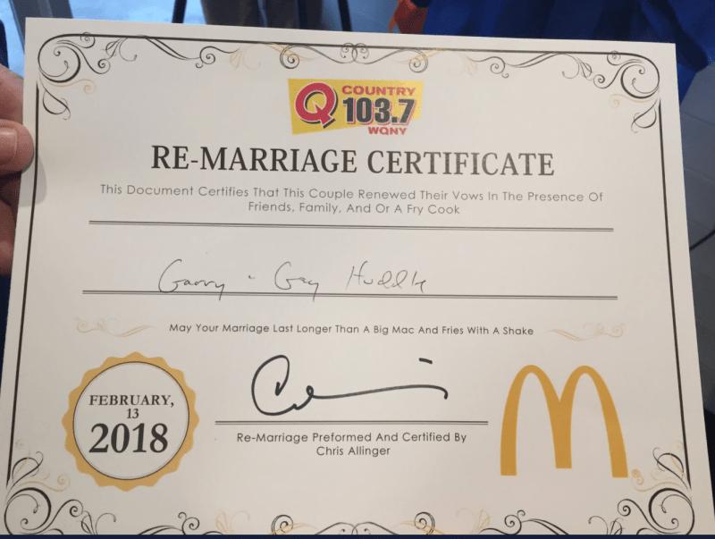 remarriage cert
