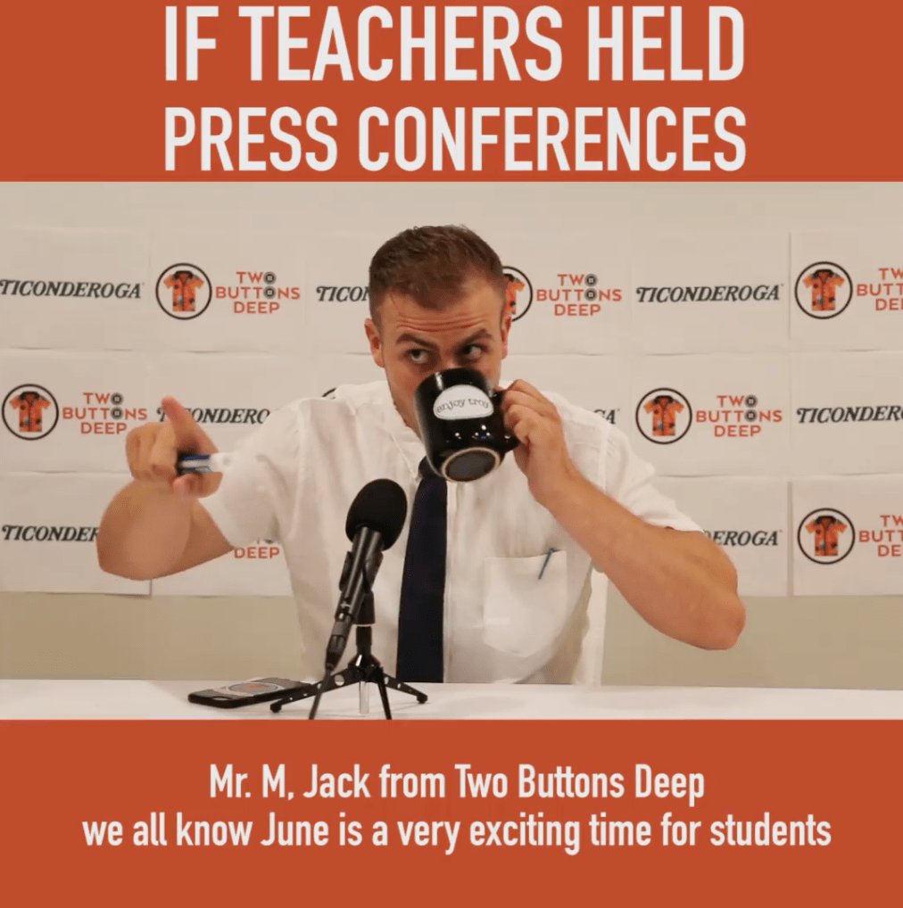 If Teachers Held Press Conferences