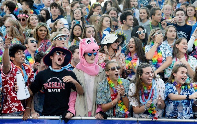 Two Buttons Deep Class of 2019: The Shaker High School Student Section Goes All Buttons Deep at Shen Shaker Game