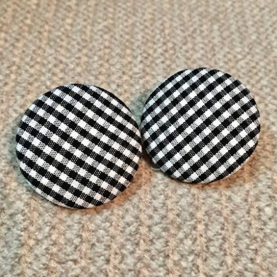 Vintage Look Gingham B&W Check Earrings, $5+ | Etsy (fancydollhouse)