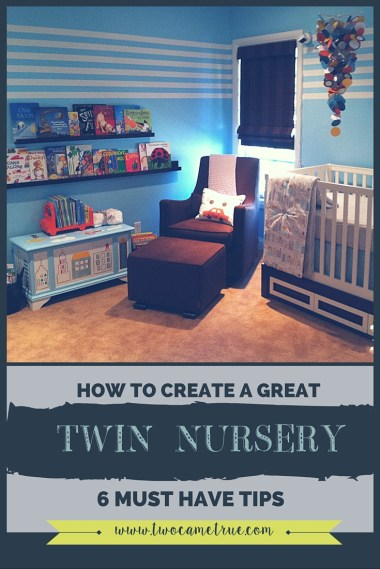 6 must have tips that will ensure you create the perfect twin nursery for your babies.