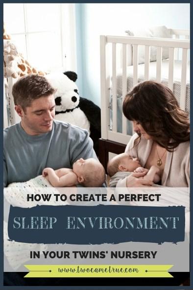 sleep environment in your twins nursery