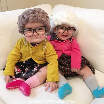 20 cute coordinating halloween costume ideas for twins two came true ok this costume is sure to get the crowds giggling brett at brettbara shows you how to make these adorable diy old lady costumes solutioingenieria Gallery