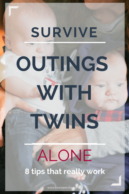 survive outings with twins alone