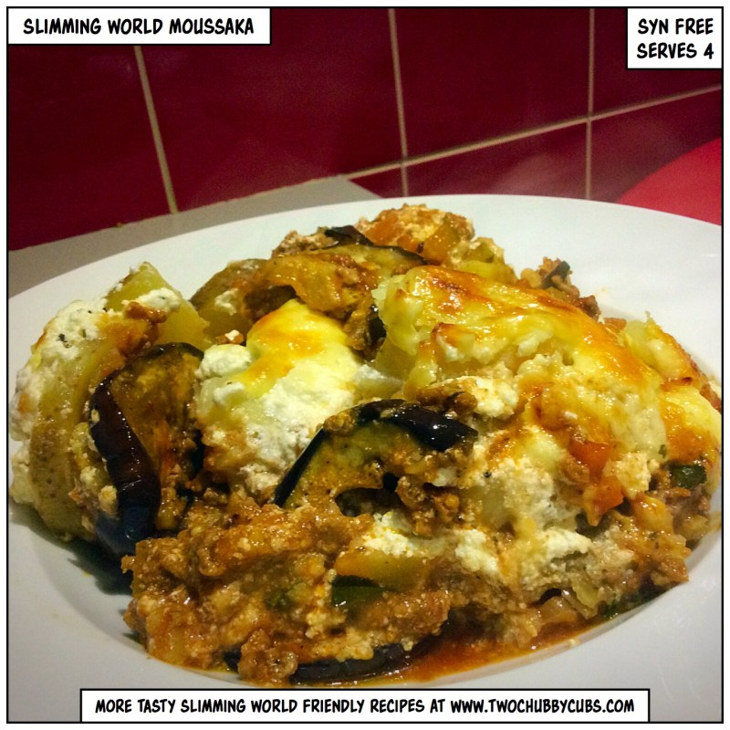 slimming world moussaka