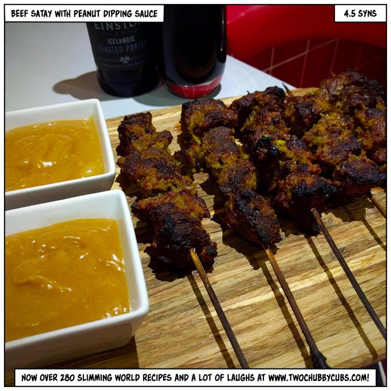 beef satay with peanut dipping sauce