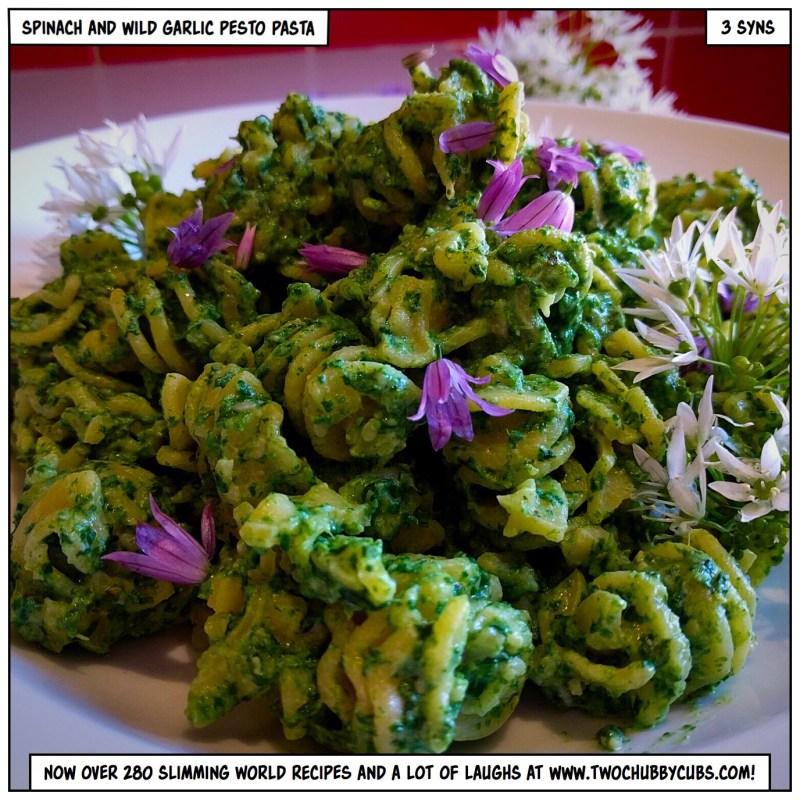 spinach and wild garlic pesto pasta